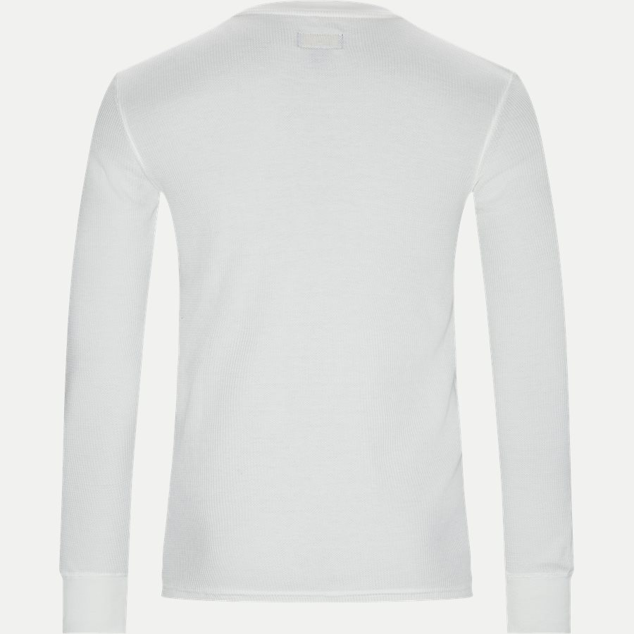 714705228 - Waffel Crew Neck Long Sleeve - T-shirts - Slim - OFF WHITE - 2